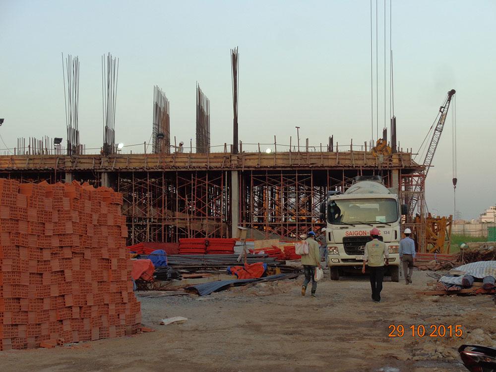 Tiến độ xây dựng Tháng 10 - 2015
