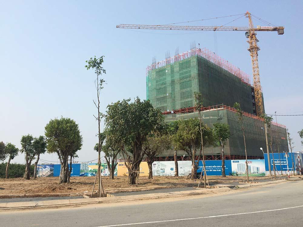 Tiến độ xây dựng tháng 04 - 2015
