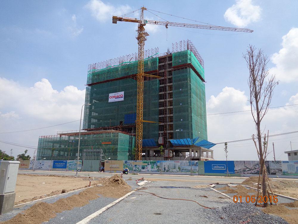 Tiến độ xây dựng tháng 05 - 2015