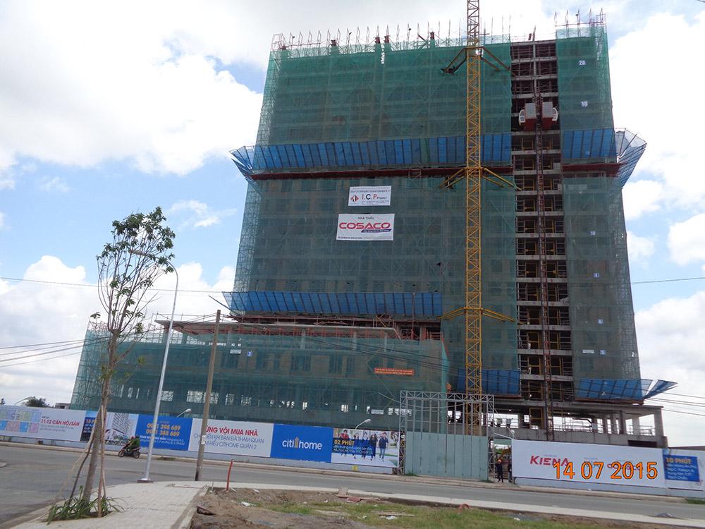 Tiến độ xây dựng tháng 07 - 2015