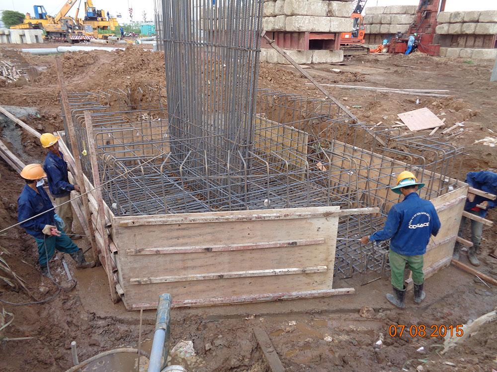 Tiến độ xây dựng tháng 08 - 2015
