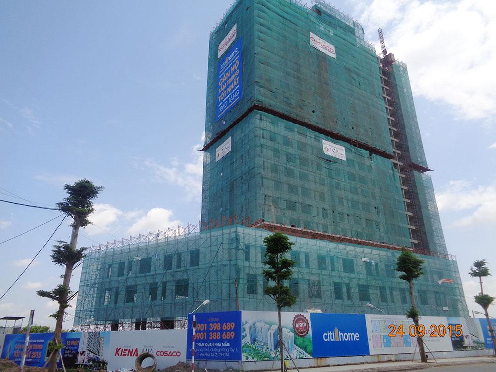 Tiến độ xây dựng tháng 09 - 2015
